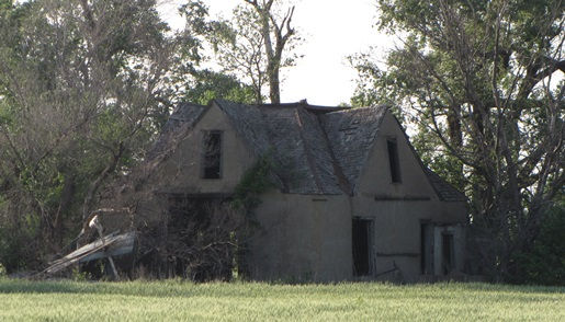 "Telephoto Shot of a ""Ghost"" farm house."