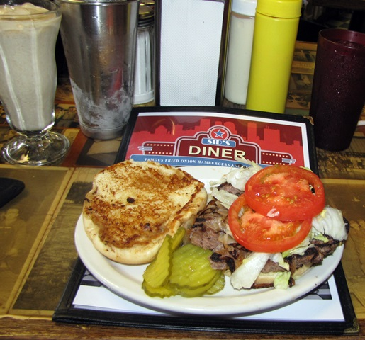 "Sid's ""King Deluxe"" Fried Onion Burger"